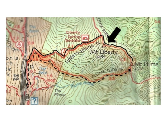 Map - Mt Liberty