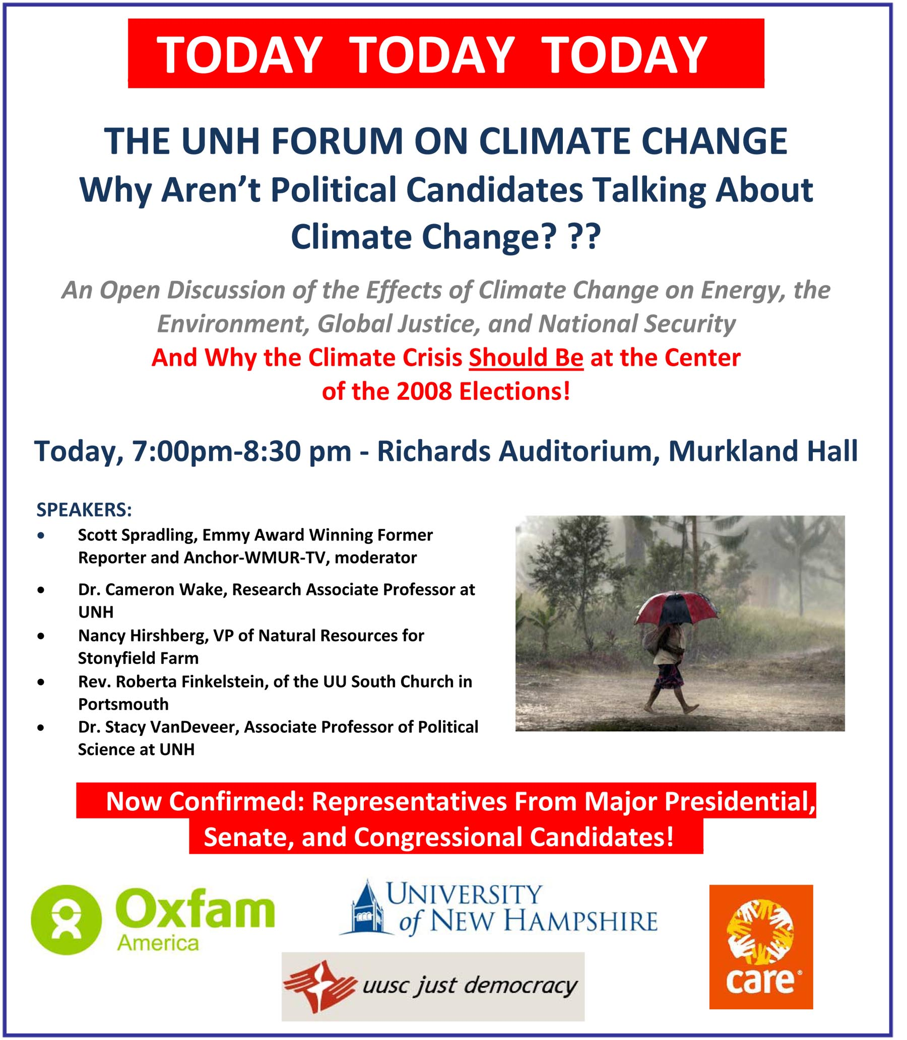 THE UNH FORUM ON CLIMATE CHANGE